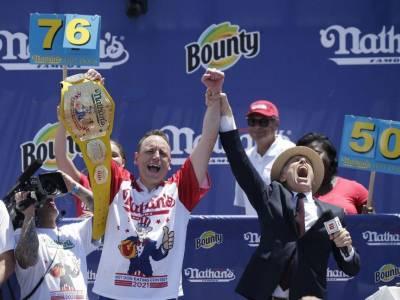 Joey Chestnut Breaks Hot Dog Eating Record (Again)